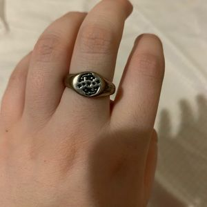 Silver Pisces Ring